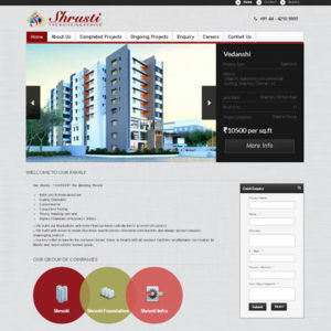 Shrustithebuildingpeople | erp | Real Estate Portal | chennai india