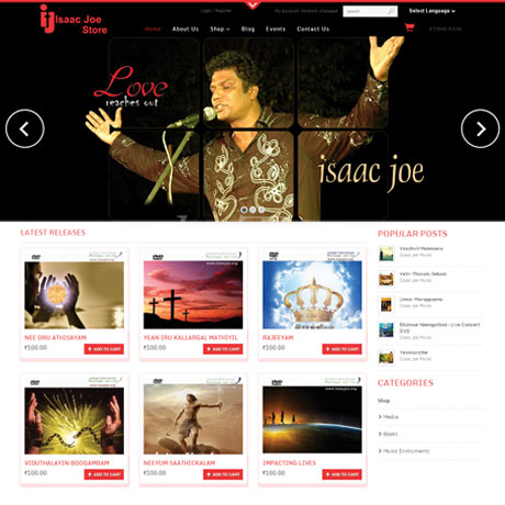 isaacjoestore | chennai | web design & development